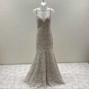 Wtoo Designer Lace Wedding Dress NWT&Beaded Straps